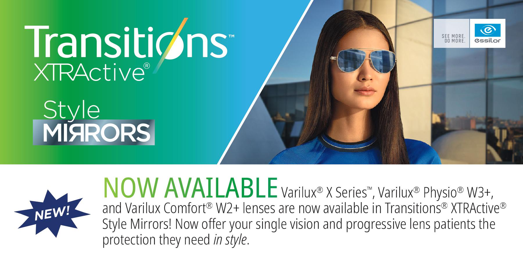 Transitions XTRActive Now Available in new lens styles at IcareLabs