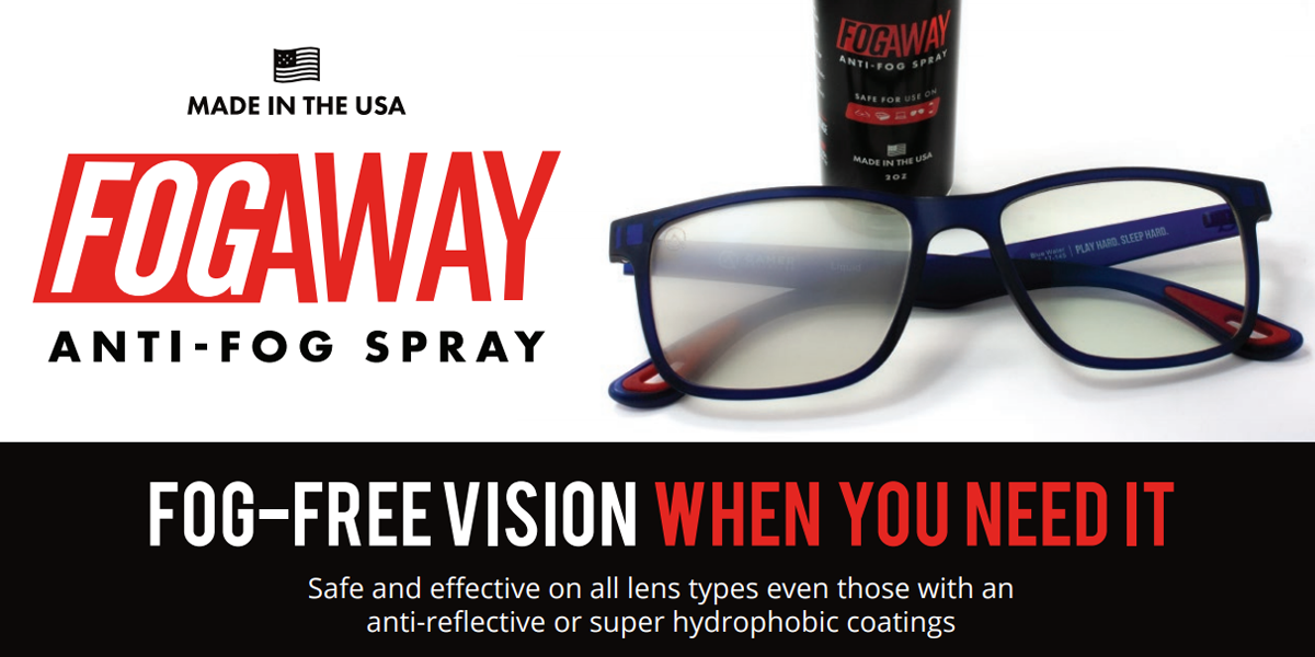 FogAway spray is now available at IcareLabs