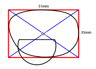 How to properly measure frame ED: find geometric center of the lens