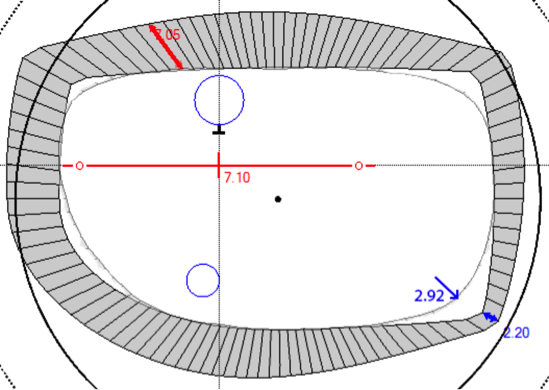 Example of computer over-estimating thickness