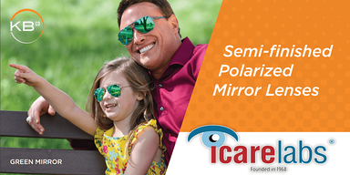 KBco polarized mirror lenses processed in-house by IcareLabs