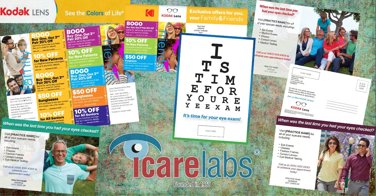 Kodak Lens Custom Prints And IcareLabs Are The Perfect Pair For Patients At Your Optical Dispensary!