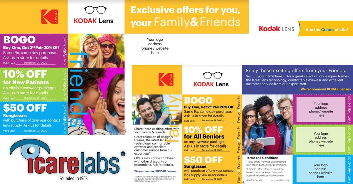 Kodak Lens Custom Prints Postcard