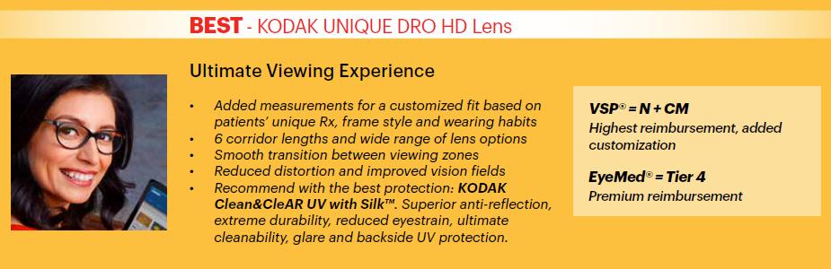 Kodak Unique DRO HD Lens