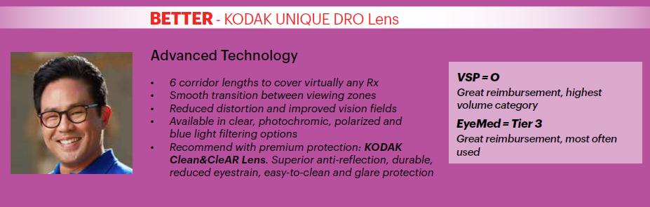 Kodak Unique DRO Lens