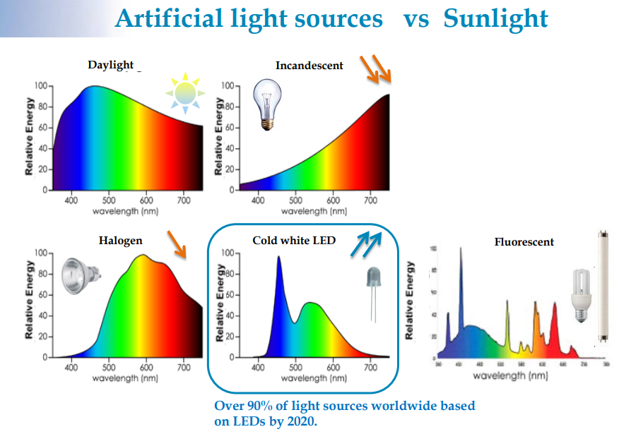 Artificial Light Sources vs Sunlight