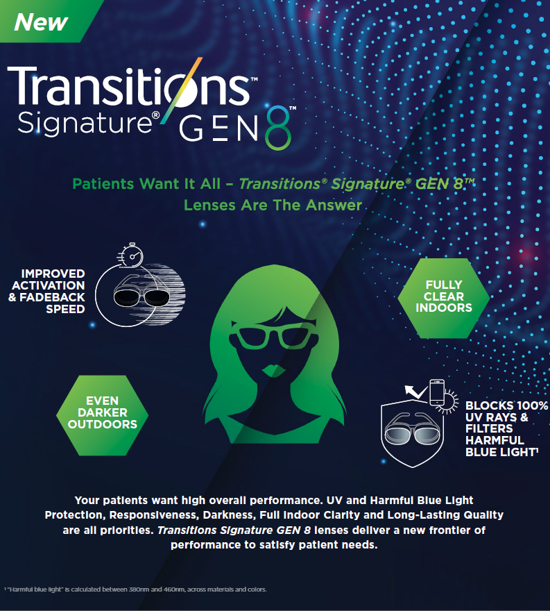 NEW Transitions Signature Gen 8 available now at IcareLabs