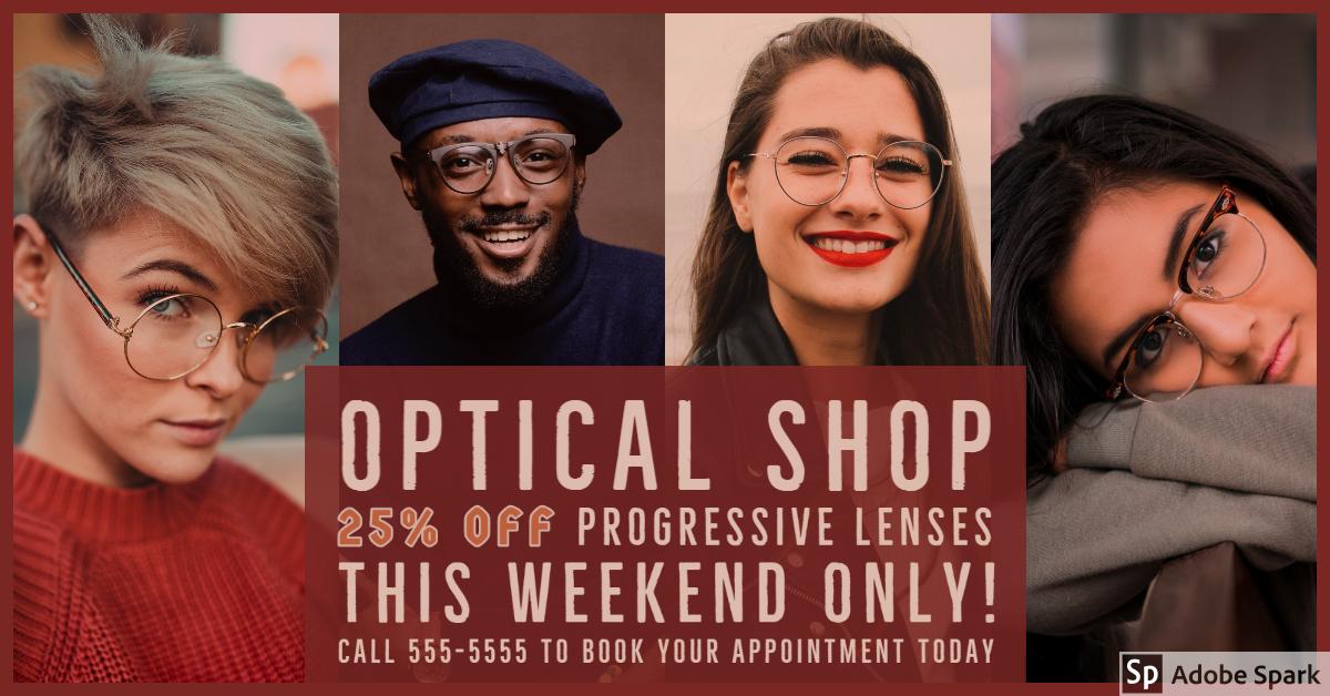 Optical Shop Social Media Ad Example