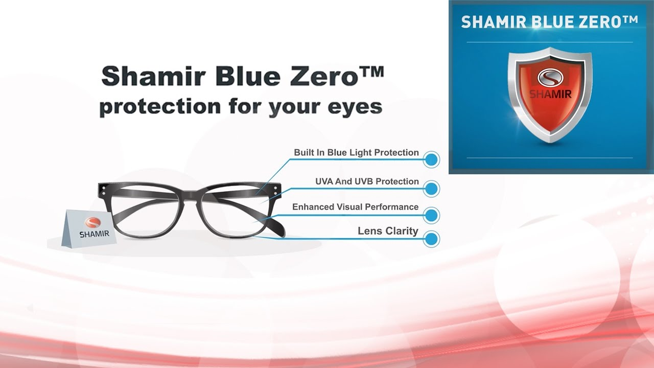 Shamir Blue Zero lenses processed in-house by IcareLabs