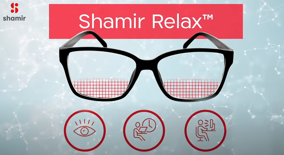 Shamir Relax lenses processed in-house by IcareLabs