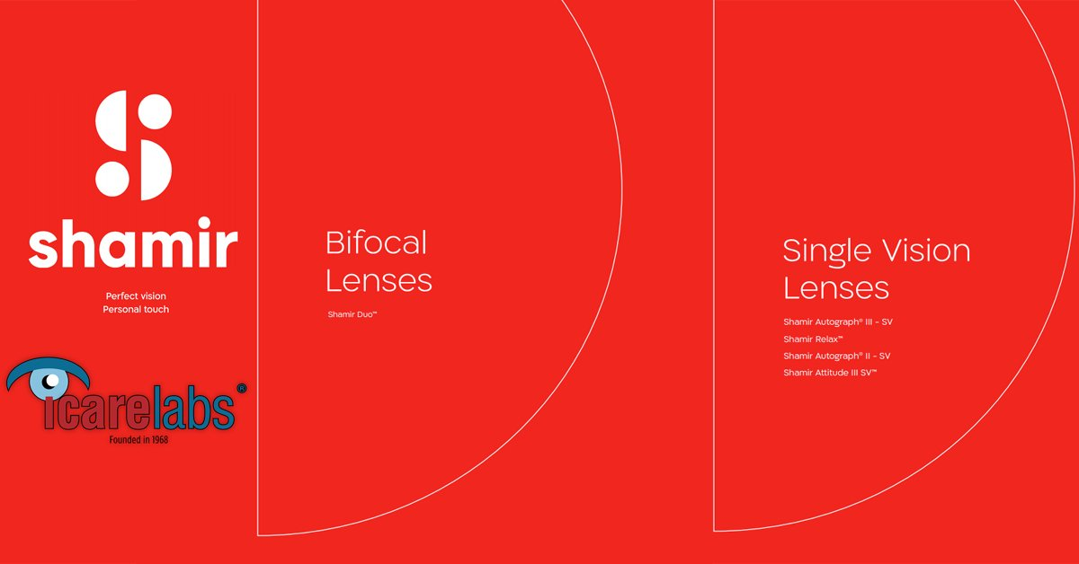 Shamir Single Vision Lenses And Bifocal Lenses