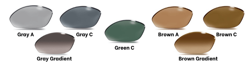 Standard polarized lens Gray - Brown - Green examples