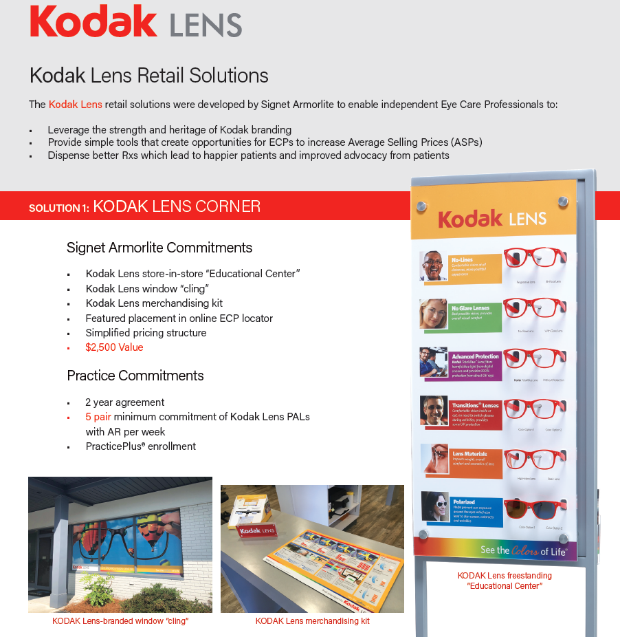 The Kodak Lens Corner And Educational Center