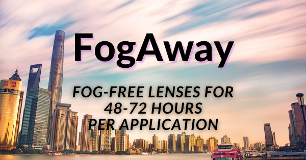 FogAway spray now available at IcareLabs