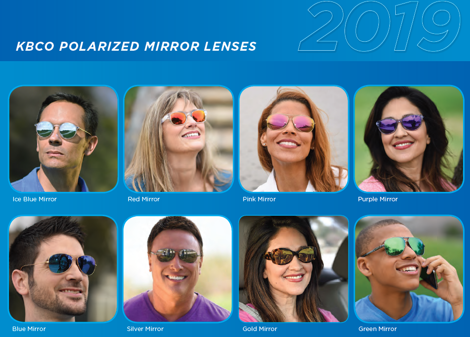 KBco Polarized Mirror Lens Options Available At IcareLabs