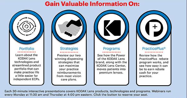 Kodak Lens Webinars Every Monday and Thursday