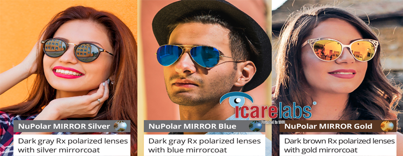 NuPolar CR39 Polarized Mirror Lenses Processed In-House By IcareLabs