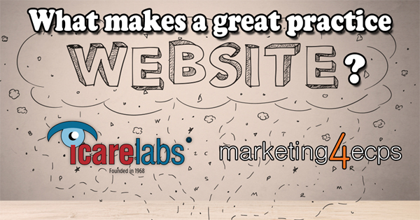 How do you make a great practice or optical shop website?