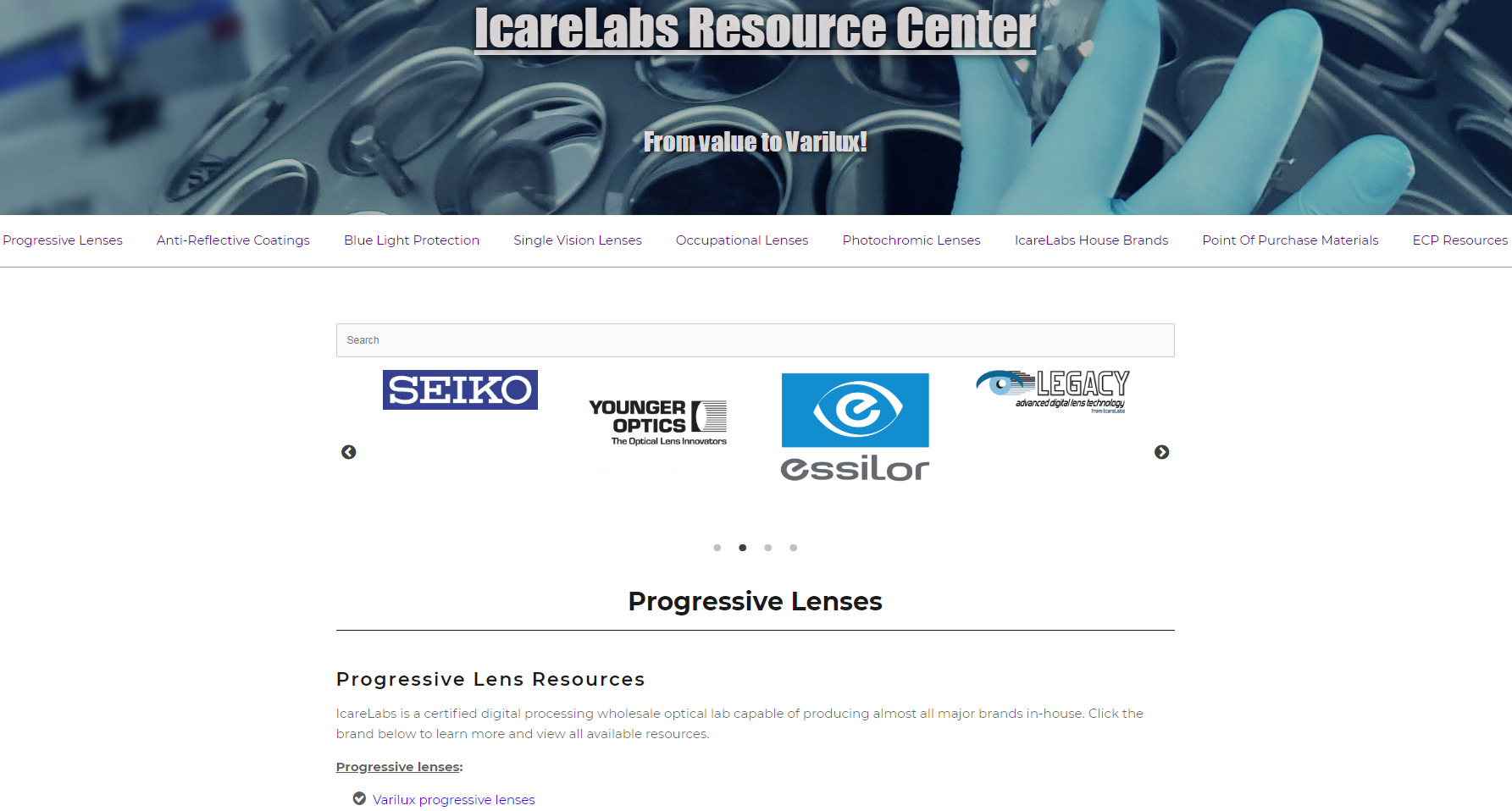 The new IcareLabs Resource Center is available for all eye care professionals