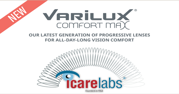 The new Varilux Comfort Max progressive lenses launch announcement by IcareLabs